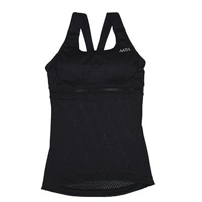 着用することで体のリカバリーをやさしくサポート。運動や仕事で疲れる体をサポートする次世代のウェア 【ふるさと納税】リカバリーウェア A.A.TH / カップ付キャミソール ※カラー:ブラック/ サイズ L【1067553】
