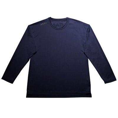 【ふるさと納税】リカバリーウェア A.A.TH / ロング Tシャツ ※カラー:ネイビー/ サイズ L【1067598】