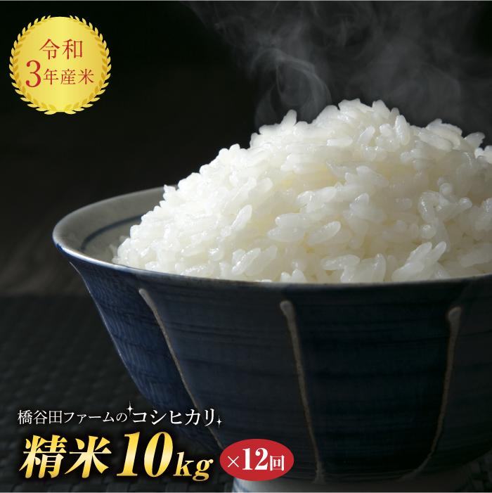 日本でも有数の米どころの トータルバランスに優れた味わい ふるさと納税 令和3年産 定期便 ※1カ月に1回 春の新作 精米 10kg×12回 コシヒカリ 人気ブランド 西会津産米