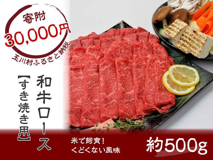【ふるさと納税】 FT18-043 「いしかわ牛」または「福島牛」 和牛ロース肉 500gすき焼き用