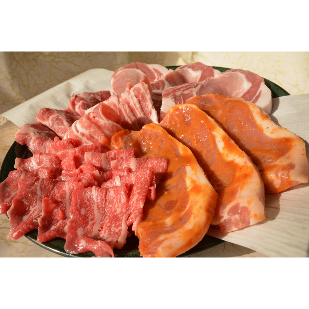【ふるさと納税】AD04_ローズポーク&常陸牛!よくばり焼肉セット2.6kg 和牛/肉/BBQ/セット商品/ロース/ヒレ/ギフト/豚肉/食べ比べ