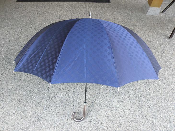 【ふるさと納税】BL10_雪華模様のオリジナル傘(サイズ65cm)カラー:ネイビー かさ/メンズ/レディース/おしゃれ