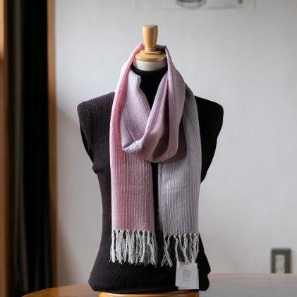 【ふるさと納税】結城紬 一年中ショール 薄花桜 【ファッション小物・ショール】
