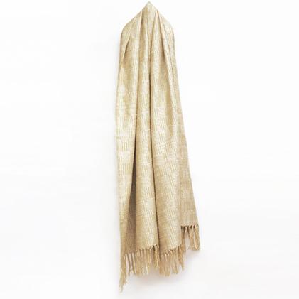 【ふるさと納税】結城紬 育てるショール 和三盆-わさんぼん 【ファッション小物・ファッション・ショール】