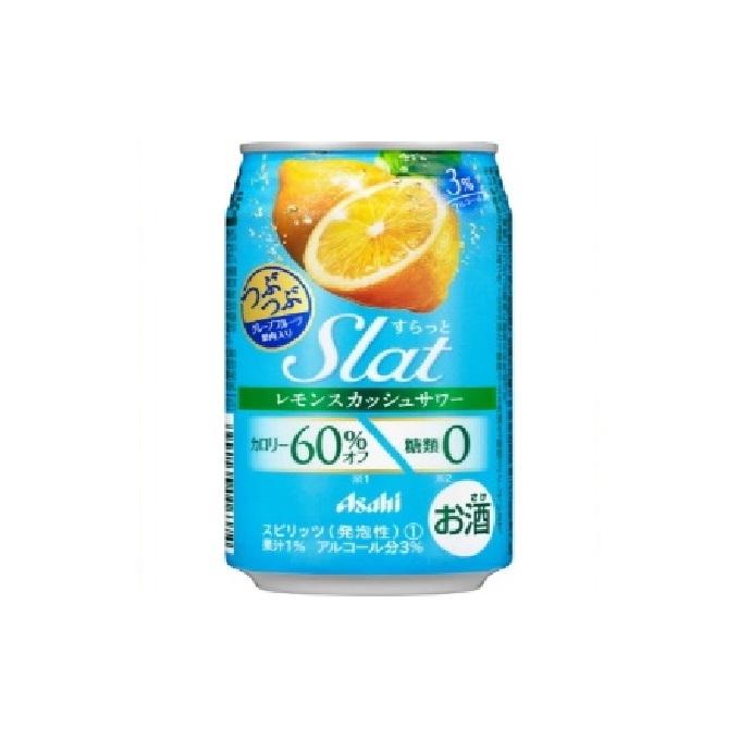 【ふるさと納税】アサヒ Slatつぶつぶレモンサワー350ml×24本 【お酒・缶チューハイ】