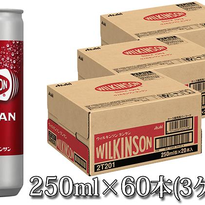 【ふるさと納税】人気炭酸水ウィルキンソン250ml×60本(3ケース) 【炭酸飲料・ソーダ水・ドリンク・飲料類】