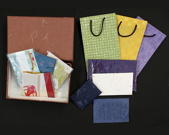 【ふるさと納税】No.019 西の内紙 心付けセット / ポチ袋 封筒 手提げ袋 ふくさ 名刺入れ