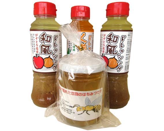 【ふるさと納税】No.064 ドレッシングとはちみつのセット / 和風 人参 蜂蜜 ハチミツ 名物