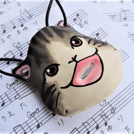 【ふるさと納税】☆猫のハナリナ ~鼻で吹くオカリナ~