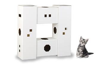 【ふるさと納税】にゃんハウス「タワータイプ」4箱セット