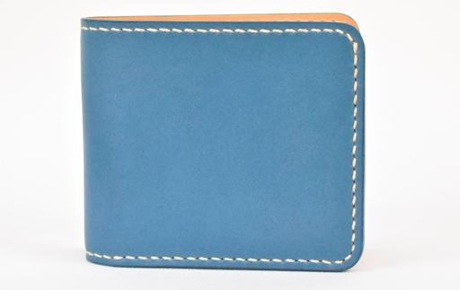 【ふるさと納税】財布 minca/Half wallet 01/BLUE