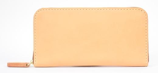 【ふるさと納税】財布 minca/Round zip wallet 01/TAN