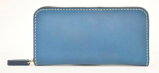 【ふるさと納税】財布 minca/Round zip wallet 01/BLUE
