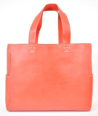【ふるさと納税】バッグ minca/Tote bag 02/L/RED