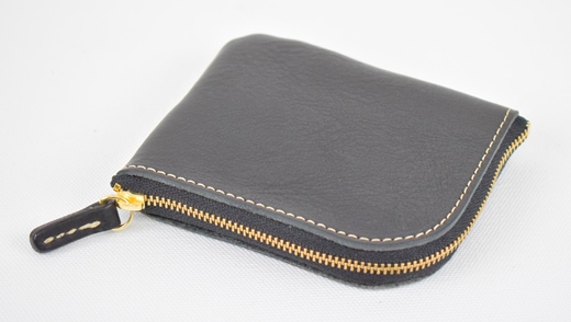 【ふるさと納税】財布 minca/Lzip wallet small 02/BLACK