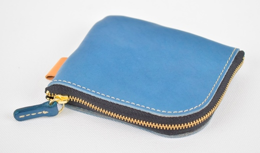 【ふるさと納税】財布 minca/Lzip wallet small 02/BLUE