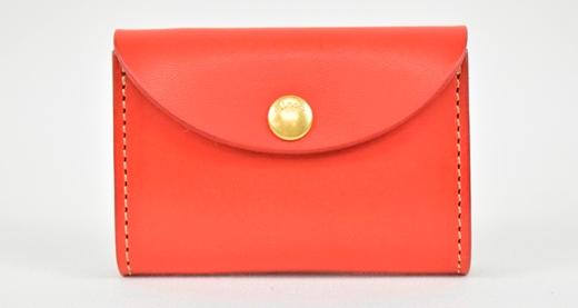 【ふるさと納税】財布 minca/Coin purse 02/RED