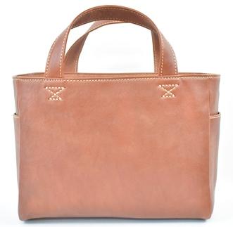 【ふるさと納税】バッグ minca/Tote bag 02/M/CHOCO