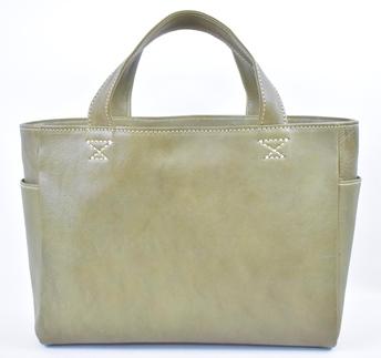【ふるさと納税】バッグ minca/Tote bag 02/M/DARK GREEN