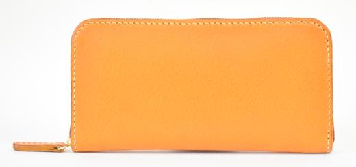 【ふるさと納税】財布 minca/Round zip wallet 02/BROWN