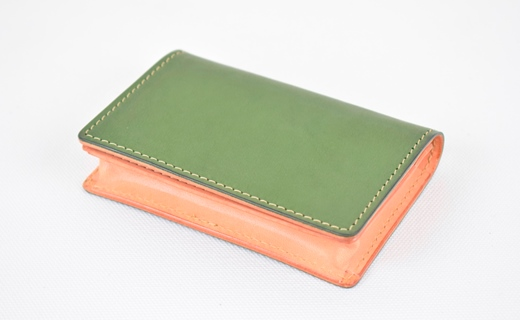 【ふるさと納税】名刺入れ minca/Card holder 02/DARK GREEN