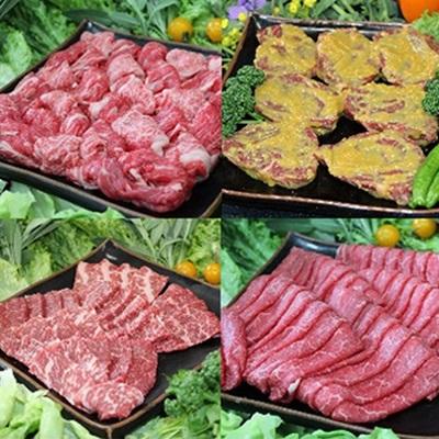 【ふるさと納税】那須野ヶ原牛 4種食べ比べ食べ尽くしセット【1004898】