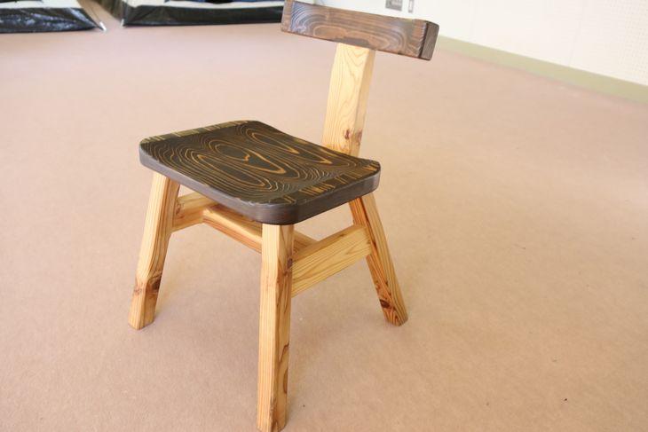 【ふるさと納税】背もたれ付き椅子『ブラック』