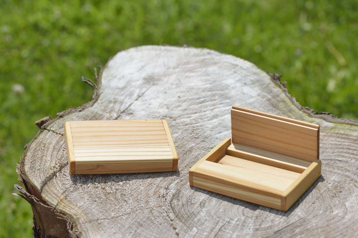 【ふるさと納税】木製名刺入れ