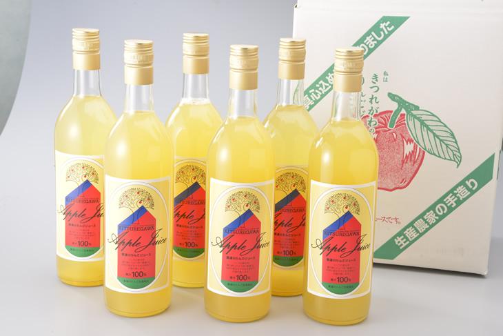 【ふるさと納税】高木りんご園のりんごジュース(720ml×6本)◆