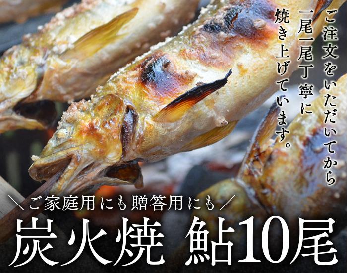 【ふるさと納税】喜連川湧水育ち鮎☆炭火焼鮎10尾入り