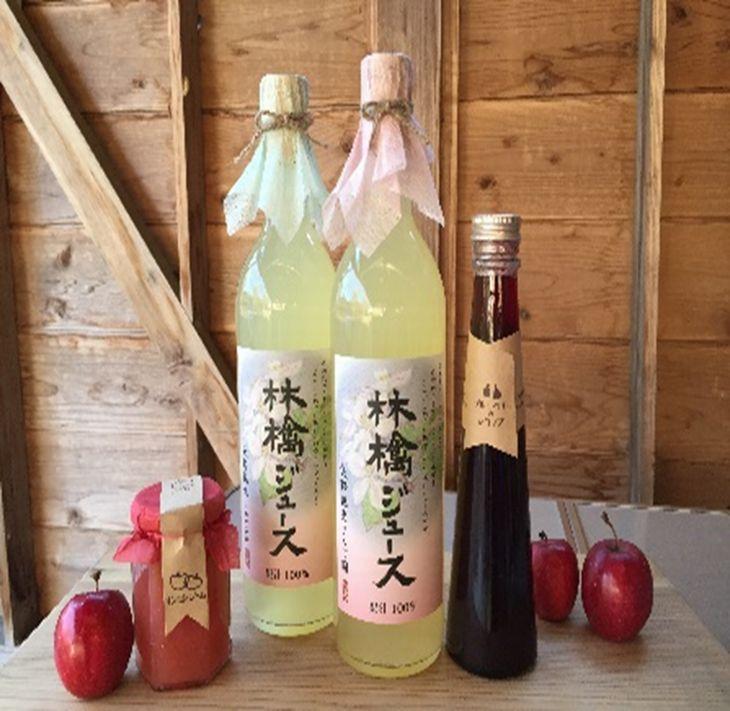 【ふるさと納税】矢野観光りんご園 と サトノシゴト からの季節の贈り物セット★りんごジュース2本 ジャム1瓶 シロップ1瓶★