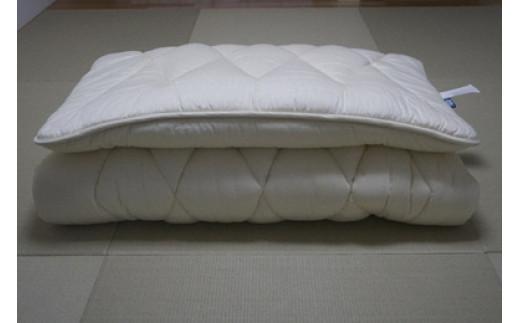 【ふるさと納税】G-03 敷布団 綿100% 軽量「ひだまり敷布団」 (セミダブルサイズ)