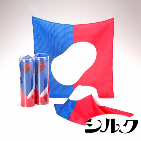 【ふるさと納税】国産富岡シルク ポケットチーフ トリコロール
