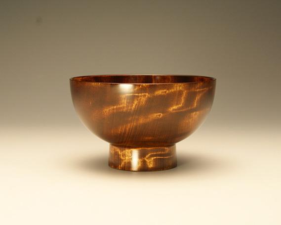 【ふるさと納税】No.092 漆器 栃杢造お椀(茶)
