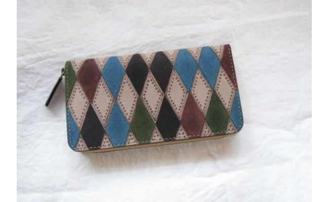 染め、裁縫すべてハンドメイド オリジナルの牛革財布 【ふるさと納税】オリジナル革財布