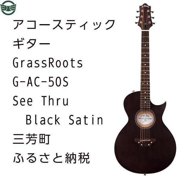 【ふるさと納税】アコースティックギター G-AC-50S See Thru Black Satin