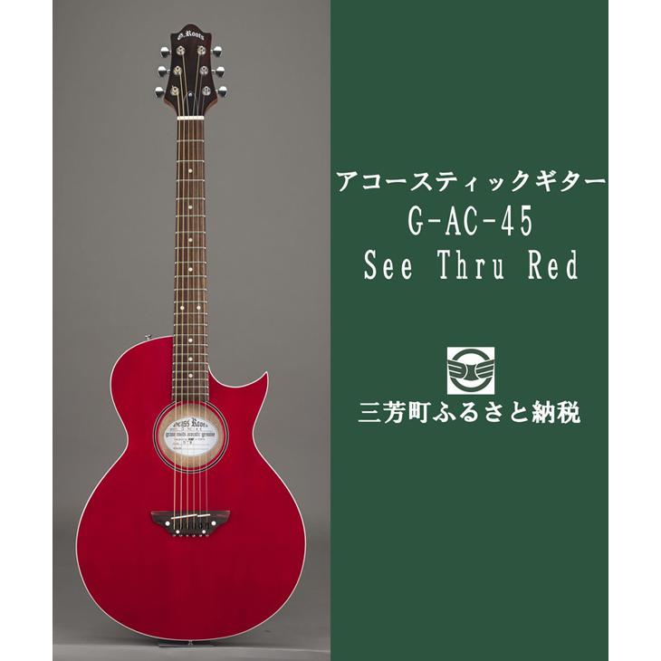 【ふるさと納税】アコースティックギター G-AC-45 See Thru Red