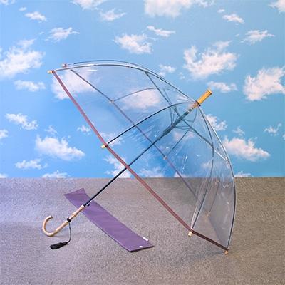 国産にこだわった高級透明傘 ふるさと納税 高級透明傘 あずき 竹跳 マーケット 1136635 5☆大好評