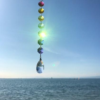 【ふるさと納税】【インテリアグッズ】Zushi 虹のサンキャッチャー 【インテリア・雑貨】