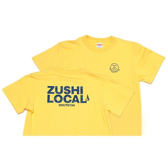 【ふるさと納税】逗子オリジナルTシャツ (ZUSHI LOCAL) イエロー 【ファッション・服・男性・メンズ・女性・レディース】
