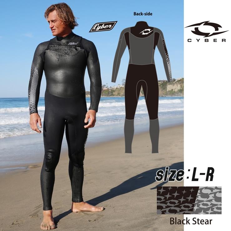 【ふるさと納税】ウエットスーツ CYBER 5/3mm起毛  CHEST-ZIP フルスーツ WINTER仕様 L-Rサイズ