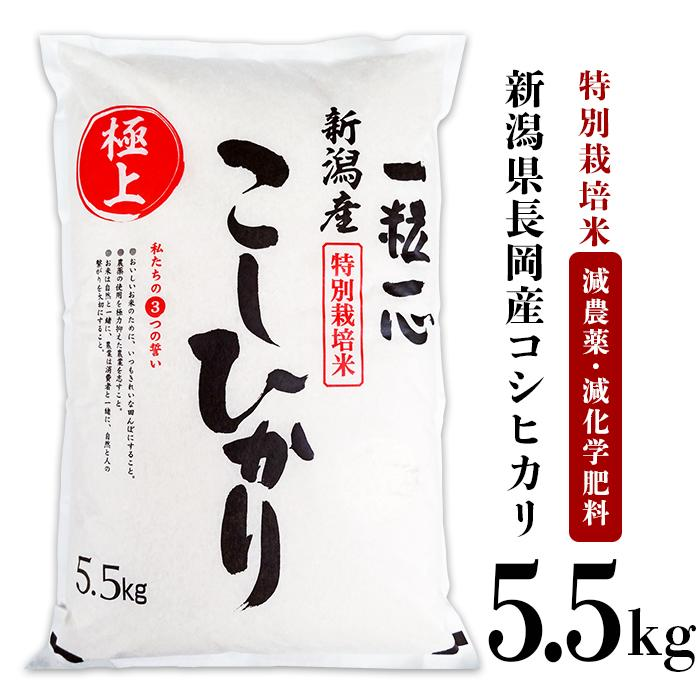 【ふるさと納税】48-5H1新潟県長岡産特別栽培米コシヒカリ5.5kg