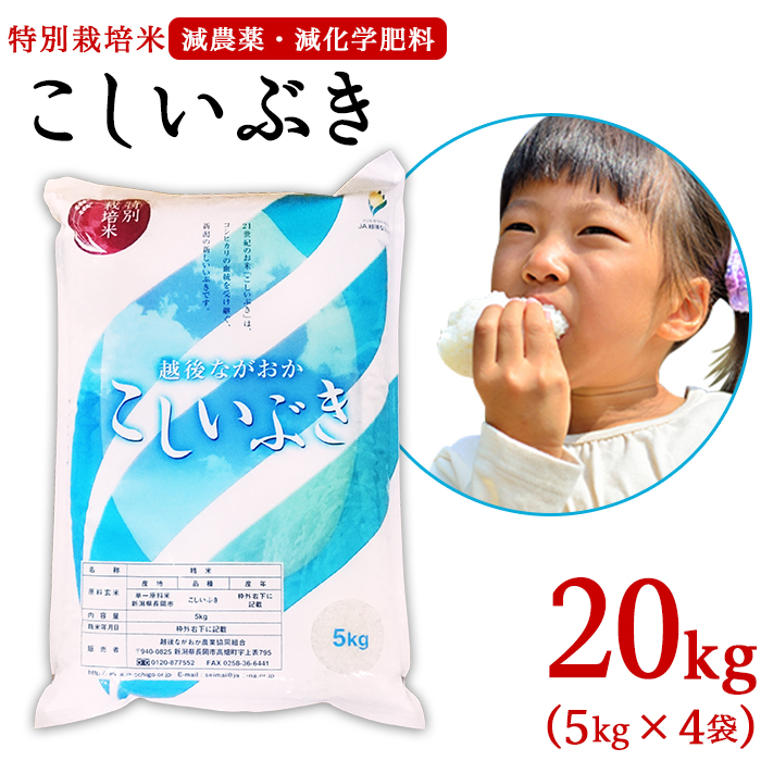 【ふるさと納税】75-K20新潟県長岡産こしいぶき20kg(5kg×4袋)