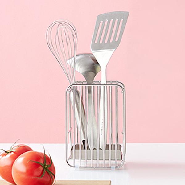 ふるさと納税 010P006 ハナウタ 公式サイト ツールスタンドS シルバー 最安値 おしゃれなステンレス製キッチン用品