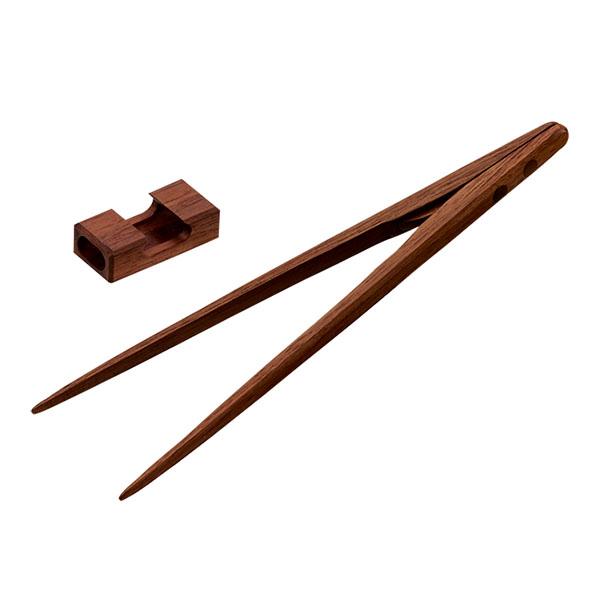 超特価 ふるさと納税 022P008 YORI-SO 磁石の力で掴みやすい お食事取分け お箸トング ウォールナット 20cm 25%OFF 盛付けに