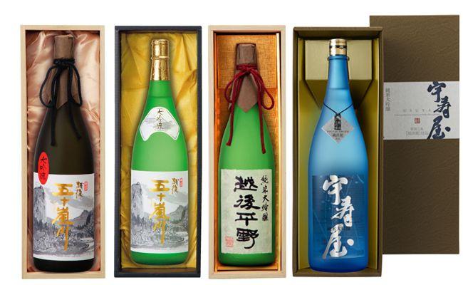 ふるさと納税 096P001 新潟清酒 大吟醸4本セット 35%OFF 大注目 福顔酒造