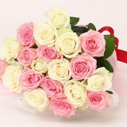 【ふるさと納税】【お届け日時指定必須】G01 生産者直送!バラの花束(お任せMIX20本)
