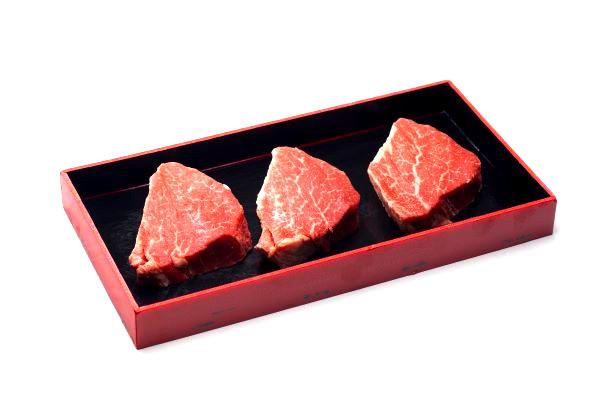 ふるさと納税 あがの姫牛 送料無料新品 100g×3枚 ヒレステーキ 商品