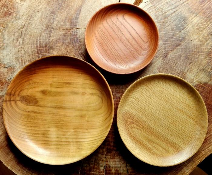 【ふるさと納税】森から作る木の皿 3枚セット