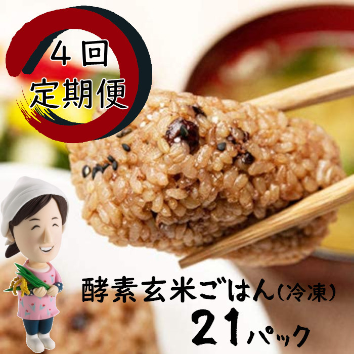 酵素玄米 使いやすい 食べ切り パック 温めるだけ 定番 ≪4回定期便≫明日からはじめる ふるさと納税 購入 4回定期コース 簡単 21日間スタートパック